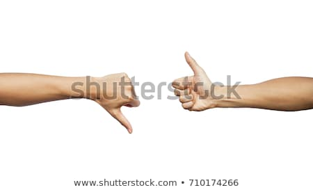 Duim beneden mannelijke handteken geïsoleerd witte Stockfoto © bloodua