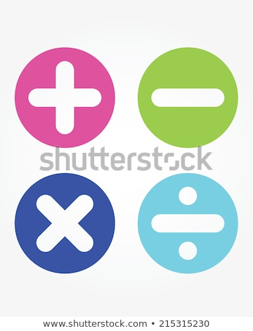 divide math symbol on blue icon Stock photo © jarin13