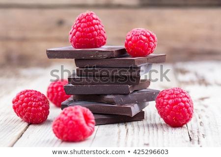 Ricos chocolate oscuro blanco bar dulces Foto stock © pixelman