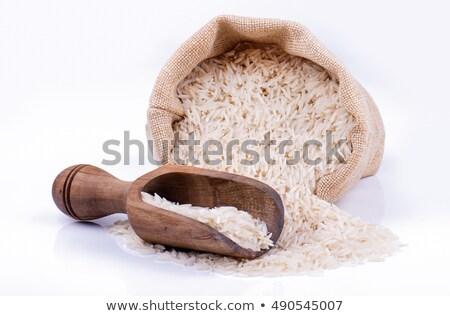 Legno raccogliere basmati riso alimentare salute Foto d'archivio © Zerbor