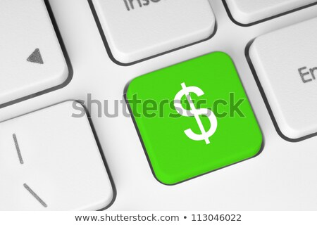a keyboard with a green button   solution stock photo © zerbor
