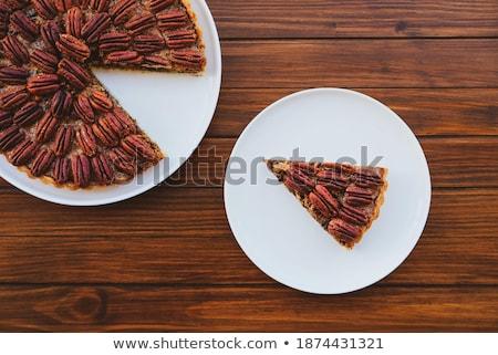 fresh nutty piece of cake  Stock photo © OleksandrO
