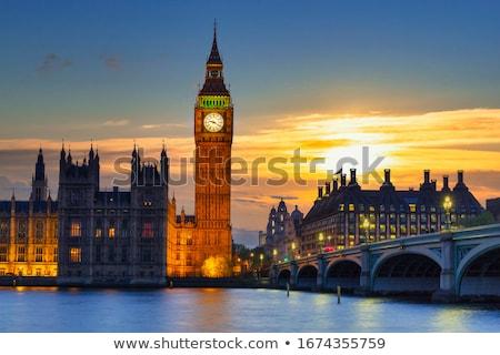 Big Ben akşam karanlığı yukarı Bina şehir ışık Stok fotoğraf © smartin69