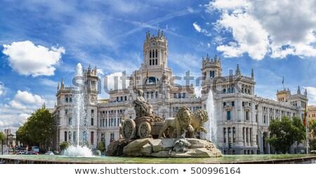 Madri · noite · cidade · Espanha · rua - foto stock © kasto
