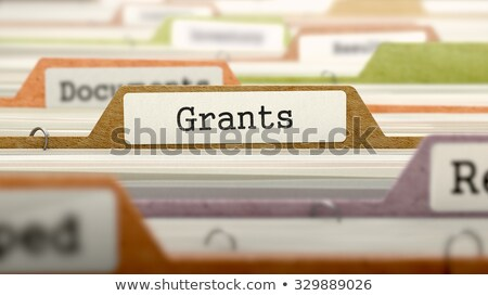 Grants - Folder in Catalog. Stock photo © tashatuvango