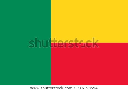 Banderą Benin wykonany ręcznie placu projektu Zdjęcia stock © k49red
