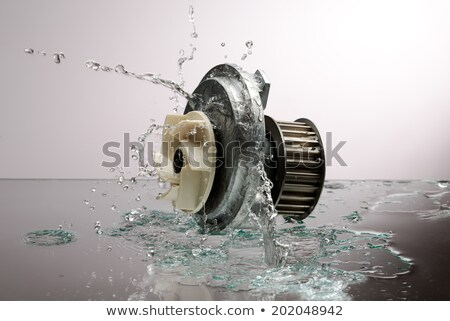 Auto parts, engine cooling pump in spurts of water. Stock photo © RuslanOmega