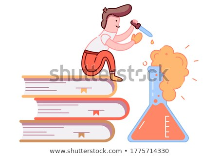 drop falls from the pipette in a flask  Stock photo © OleksandrO