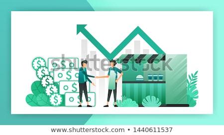 Negócio empréstimo dinheiro mão moeda ícone Foto stock © Dxinerz