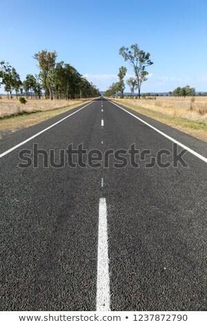 egyenes · út · vidéki · Queensland · kifutópálya · Ausztrália - stock fotó © silkenphotography