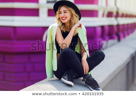 autumn photo of young woman stock photo © neonshot