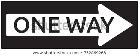 One Way Sign Stock photo © leonardo