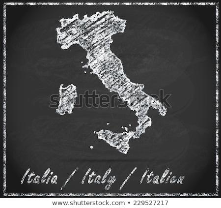 harita · İtalya · verona · dışarı · yalıtılmış · beyaz - stok fotoğraf © istanbul2009