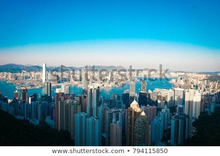 Vista Hong Kong cielo agua edificio Foto stock © Elnur