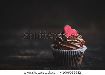 çikolata kalp bir valentine kalpler Stok fotoğraf © rojoimages