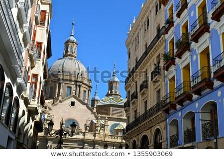 Zaragoza city Spain Alfonso I street coloful building Stock photo © lunamarina