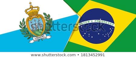 Brasil San Marino bandeiras quebra-cabeça isolado branco Foto stock © Istanbul2009