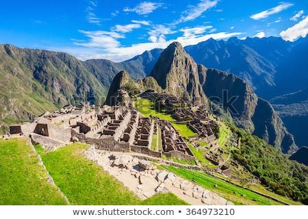 Machu Picchu Peru világ örökség helyszín épület Stock fotó © alexmillos