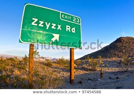 zzyzx road freeway sign along the interstate 15 freeway near baker stock photo © stryjek