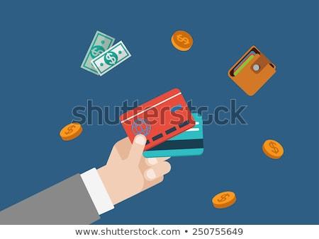 Businessman hand with money icon. Monetary finance conceptual. B Stock photo © chatchai5172