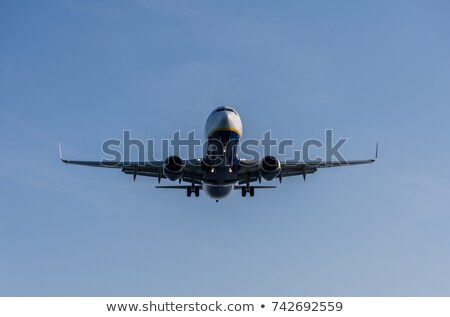 Airplane taking off from Corfu town airport Stock photo © lightkeeper