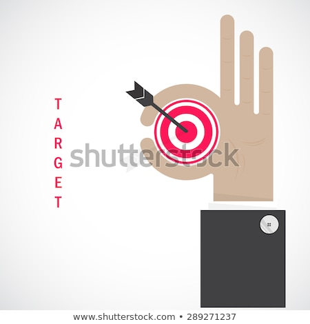 Foto stock: Empresário · mão · alvo · símbolo · negócio