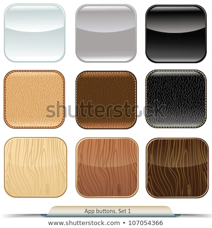 Wooden Rounded Rectangle Banners Set Stock photo © Voysla