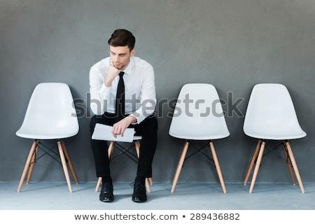 Stock photo: men waiting for job
