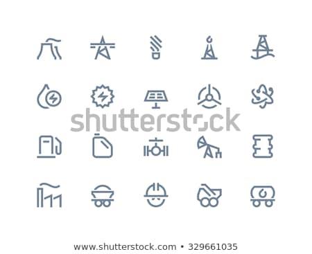 bestraling · teken · lijn · icon · web · mobiele - stockfoto © rastudio