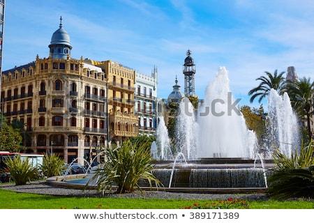 Valencia tér ház Spanyolország utca művészet Stock fotó © lunamarina