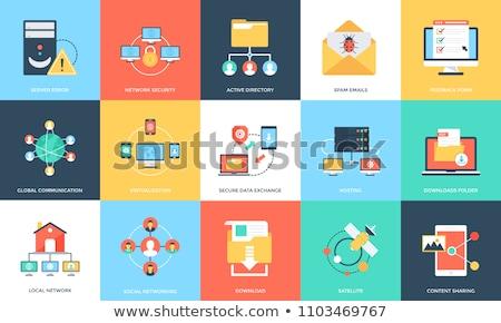 veritabanı · güvenlik · ikon · gri · düğme · dizayn - stok fotoğraf © wad
