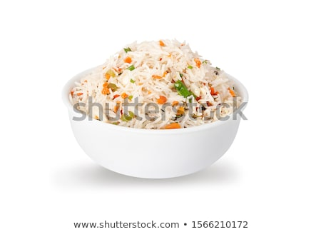 tyúk · hús · vegyes · rizs · zöldségek · egészséges - stock fotó © Digifoodstock