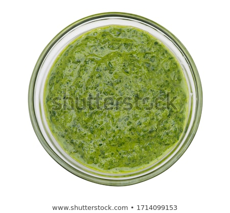 Pesto salsa alimentare fresche ingrediente cucina Foto d'archivio © M-studio