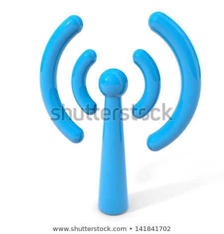 azul · podcast · botão · isolado · branco - foto stock © tuulijumala