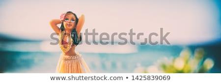 kadın · dans · güneş · çim · adam · dans - stok fotoğraf © adrenalina