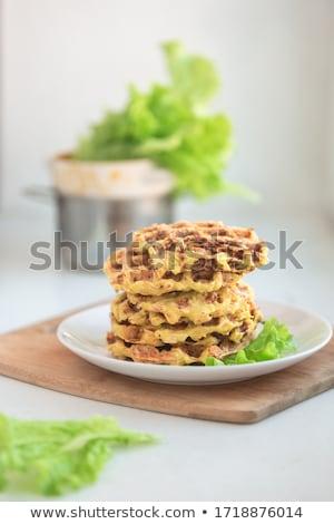zucchini  wafers with salad. Stock photo © zoryanchik