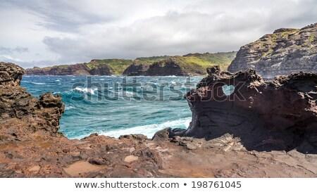 溶岩 岩 崖 壁 ストックフォト © iofoto