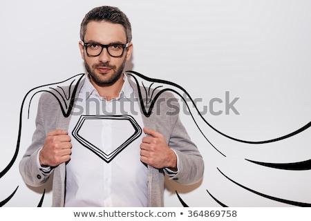 Mann Held darstellen weiß eps 10 Stock foto © Istanbul2009