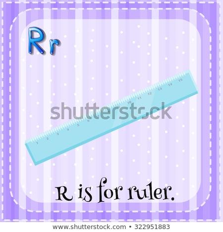 Letter r heerser illustratie achtergrond kunst onderwijs Stockfoto © bluering