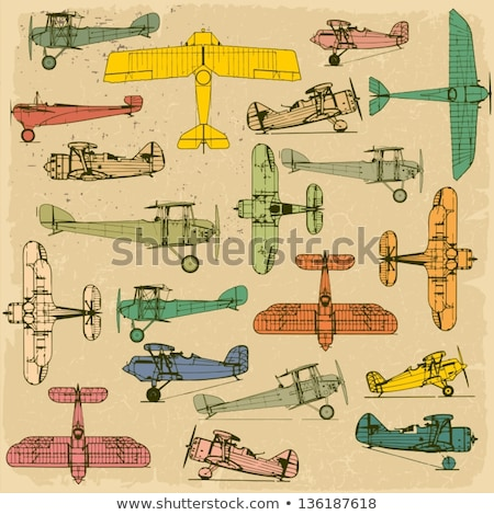 A colourful vintage plane Stock photo © bluering