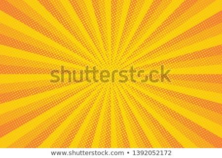 Rood · Geel · halftoon · effect · pop · art - stockfoto © beholdereye