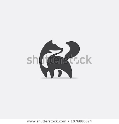 Absztrakt róka ikon izolált fehér háttér Stock fotó © cidepix