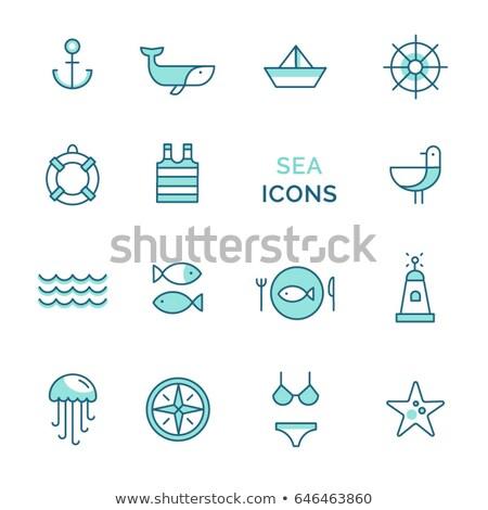 Starfish bússola logotipo design de logotipo 10 projeto Foto stock © sdCrea