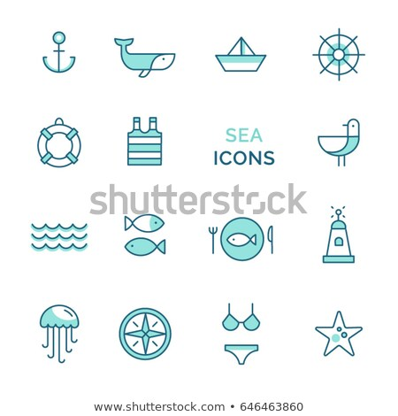 Сток-фото: Starfish · компас · логотип · дизайн · логотипа · 10 · дизайна