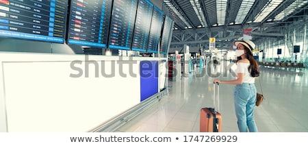 airplane stays at airport Stock photo © ssuaphoto