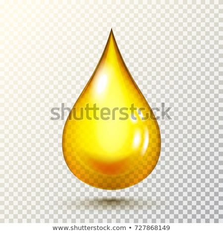 Golden colored liquid drop icon with a shadow Stock photo © Noedelhap