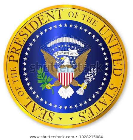 Sello oro presidente Estados Unidos América fondo Foto stock © Bigalbaloo