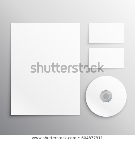 Artigos de papelaria conjunto papel cartão de visita cd negócio Foto stock © SArts