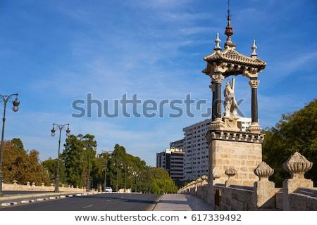 Valencia igazi királyi híd Spanyolország 16 Stock fotó © lunamarina