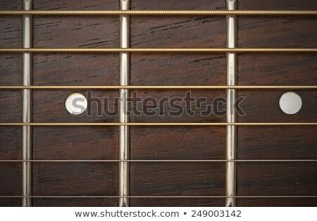 guitare · électrique · détail · vue · pont · bois - photo stock © diego_cervo